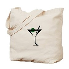 Abstract Martini Glass Tote Bag