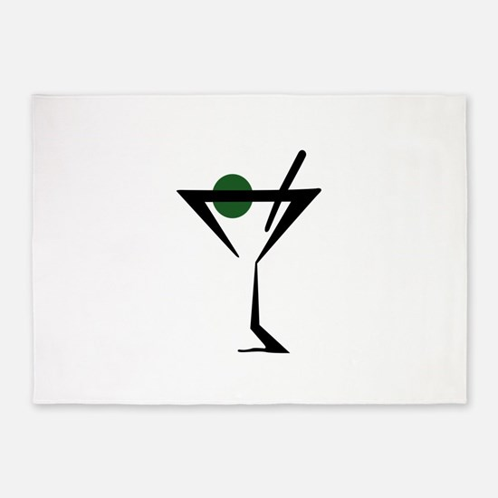 Abstract Martini Glass 5'x7'Area Rug