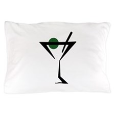 Abstract Martini Glass Pillow Case