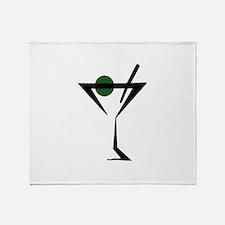 Abstract Martini Glass Throw Blanket