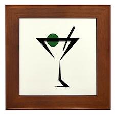 Abstract Martini Glass Framed Tile