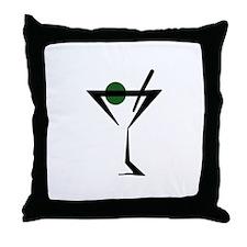 Abstract Martini Glass Throw Pillow