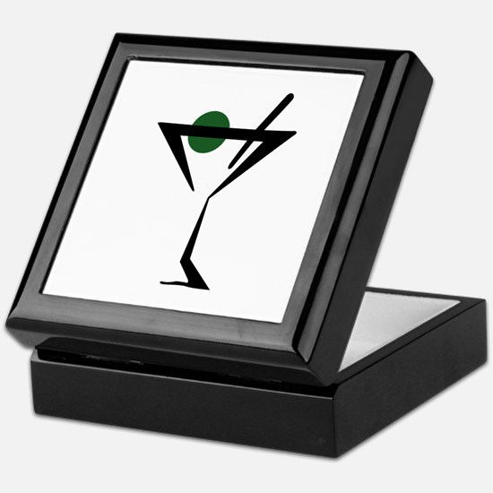 Abstract Martini Glass Keepsake Box