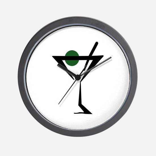 Abstract Martini Glass Wall Clock
