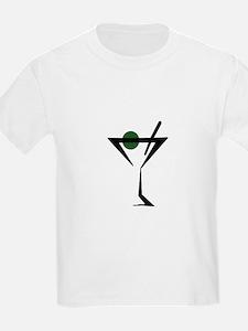 Abstract Martini Glass T-Shirt