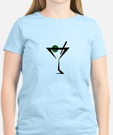 Abstract Martini Glass T-Shirt