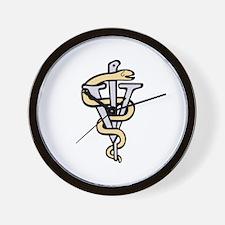 Veterinarian logo Wall Clock