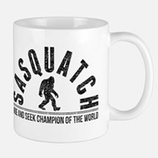 Sasquatch Hide And Seek Champion (Distressed) Mugs