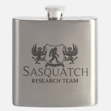 Sasquatch Research Team (Distressed) Flask