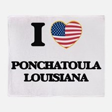 I love Ponchatoula Louisiana Throw Blanket