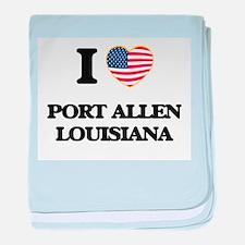 I love Port Allen Louisiana baby blanket