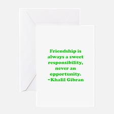 Friendship Greeting Card