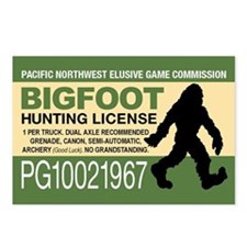 Bigfoot Hunting License Postcards (Package of 8)