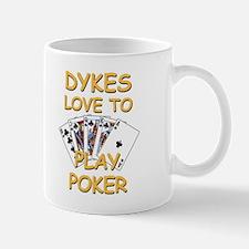 Dykes Love To Play Poker Small Small Mug