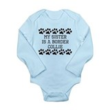 Border collie Long Sleeves Bodysuits