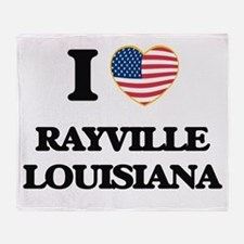 I love Rayville Louisiana Throw Blanket
