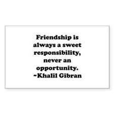 Friendship Rectangle Decal