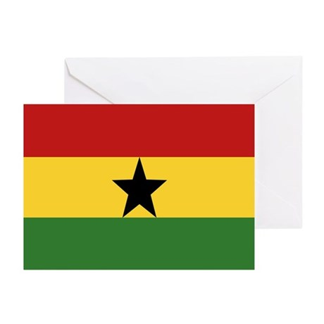 """Ghana Flag"" Greeting Cards (Pk of 20)"