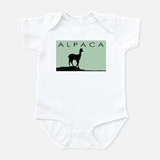 Alpaca Black on Mint Infant Bodysuit