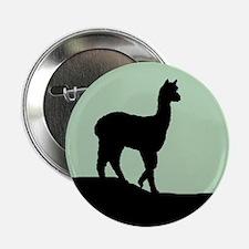 Alpaca Black on Mint Button