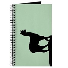 Alpaca Black on Mint Journal