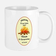 Funny Welcome to Cabin Sign Mugs
