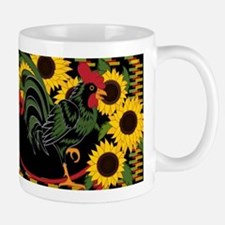 ROOSTER IN THE SUNFLOWERS Mugs