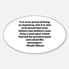 Proud Oval Decal