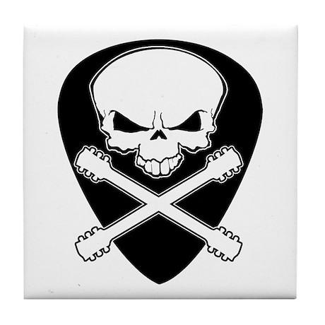 Guitar Skull & Crossbones Tile Coaster