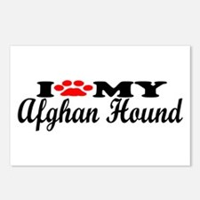 Afghan Hound - I Love My Postcards (Package of 8)