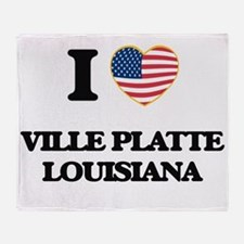 I love Ville Platte Louisiana Throw Blanket
