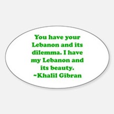 Dilemma Oval Decal