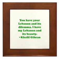 Dilemma Framed Tile