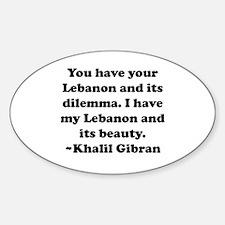 Dilemma Oval Decal
