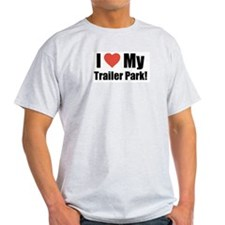 Funny I Heart My Trailer ParkT Shirts,grey