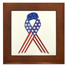 Patriotic Ribbon Framed Tile