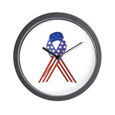 Patriotic Ribbon Wall Clock