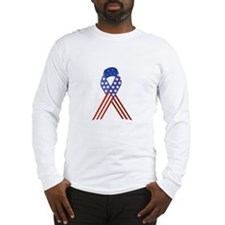 Patriotic Ribbon Long Sleeve T-Shirt