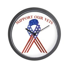 Support Vets Wall Clock