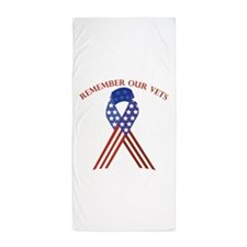 Remember Vets Beach Towel