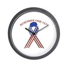 Remember Vets Wall Clock