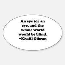 An Eye Oval Decal
