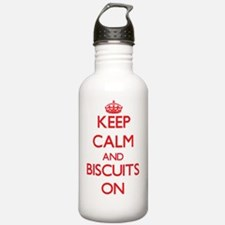 Keep Calm and Biscuits Water Bottle