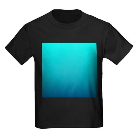 Turquoise blue ombre kids dark t shirt turquoise blue for Aqua blue color t shirt