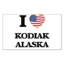 I love Kodiak Alaska Decal