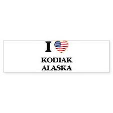 I love Kodiak Alaska Bumper Bumper Sticker