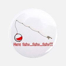"""Here fishy 3.5"""" Button (100 pack)"""