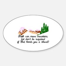 Faith moves mountains Decal