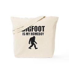 Bigfoot Is My Homeboy (Distressed) Tote Bag