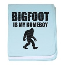 Bigfoot Is My Homeboy (Distressed) baby blanket